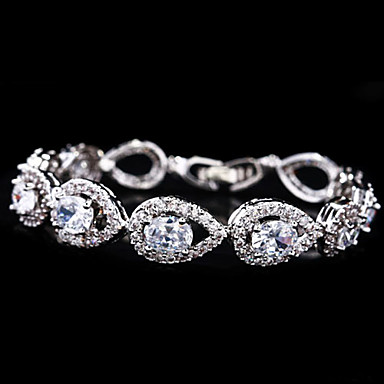 Gorgeous Alloy Plating Platinum With Crystal/Cubic Zirconia Women's Bracelet(More Colors)