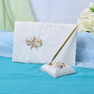 Strand ThemaGastenboek / Pen Strand Thema 9 1/2 × 6 1/3 inch (24 cm x 16,5 cm)Het Bruiloft Gastenboek Bevat Meer Dan 500 Gasten Namen En