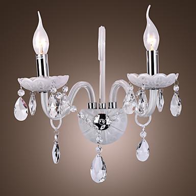 moderni kristalli seinävalaisimet kanssa 2 valot kynttilä feautured