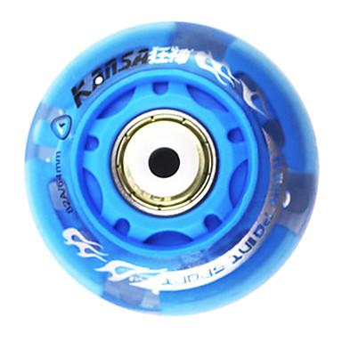 Roue en caoutchouc et carbone Skate Acier Shimmering amortissement anti-saut (1PCS, Diamètre = 64mm, couleurs assorties)