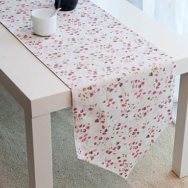 Rouge Chemin de table fleur