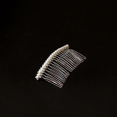Gorgeous Alloy With Pearl/Rhinestone Women's Hair Combs