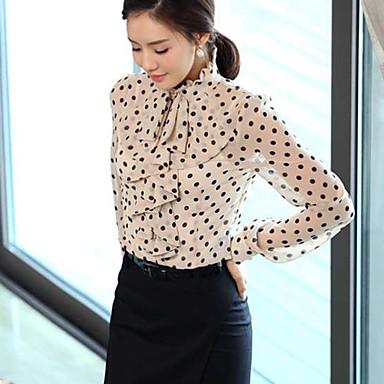 Женские рубашки Polka Dots с оборками