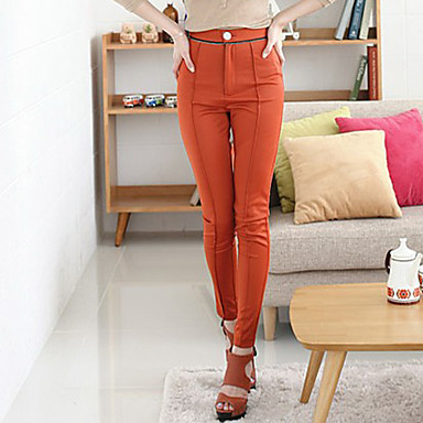 Kvinners High Waist Skinny Pant (Slim Fit)