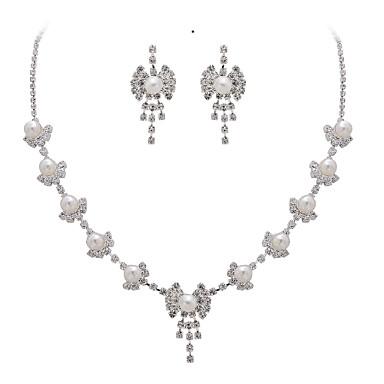 colar de cristal bridal bouquet e brincos