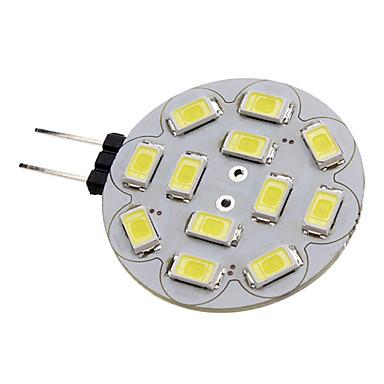 1.5W 150-200lm G4 LED-kohdevalaisimet 12 LED-helmet SMD 5730 Neutraali valkoinen 12V / #