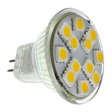 2W 160 lm GU4(MR11) Spoturi LED MR11 12 led-uri SMD 5050 Alb Cald DC 12V