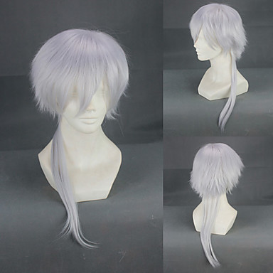 Cosplay Wigs Cosplay Masaharu Nioh Silver Medium Anime Cosplay Wigs 55 CM Heat Resistant Fiber Male