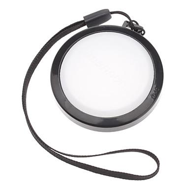 MENNON 46mm Camera White Balance Lens Cap Cover with Hand Strap (Black & White)