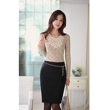 Женская Tweed стройная юбка (Пояс не входит)