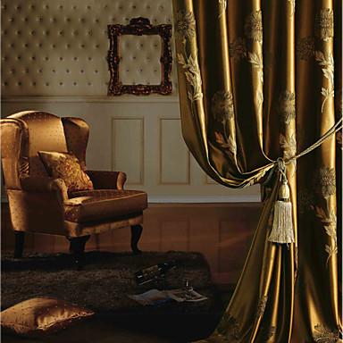 Două Panouri Tratamentul fereastră European Neoclasic Dormitor Poliester Material perdele, draperii Pagina de decorare For Fereastră