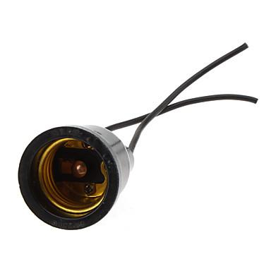 E27 100-240 V Vedenkestävä / 90 ° C lämmönkestävä Muovi / Kuparilanka Valonheittimen liitäntä / lampholder Indoor / Ulkoilu / DIY-hankkeille