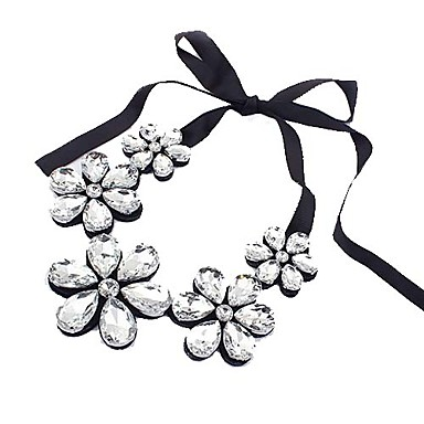 Women's Statement Necklaces Crystal Cubic Zirconia Fashion Black Silver Coffee Jewelry Special Occasion Birthday Gift