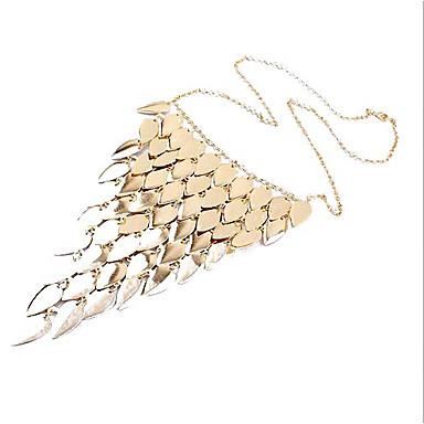 Women's Fashion Short Leaves Tassel Necklace