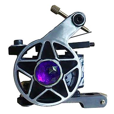 Tatoeage Machine Met Spoelen Legering Lijnen en arcering Dubbele spoel, 8 omwikkelingen 3-18 7400
