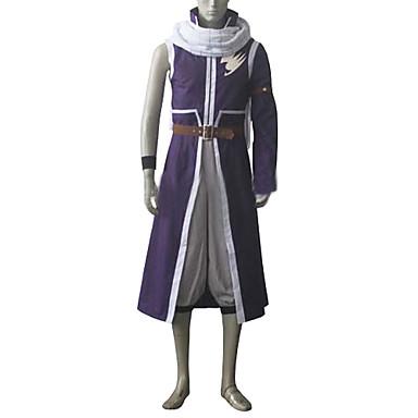 Inspirovaný Fairy Tail Natsu Dragneel Anime Cosplay kostýmy Cosplay šaty Patchwork Kabát Kalhoty Pásek Doplňky k pasu šála či šátek Pro