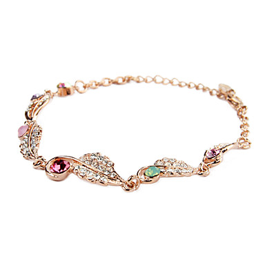 Exquisite 18K Gold plated with Rhinestone Women's Fashion Bracelets