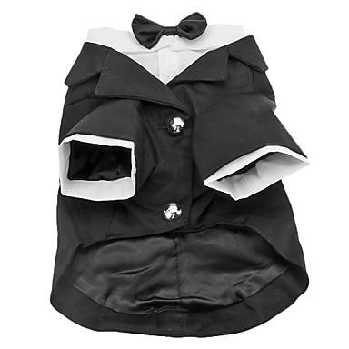 Köpek Kostümler Smoking Köpek Giyimi Solid Pamuk Kostüm Evcil hayvanlar için Erkek Doğum Dünü Cosplay Düğün
