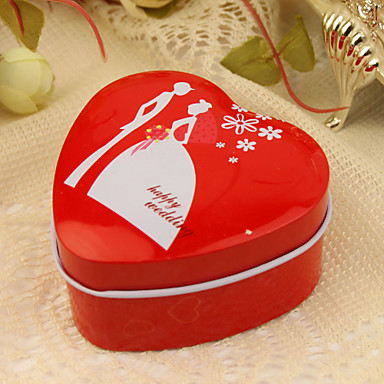 Formă de Inimă Cutii conserve Favor Holder Cu Cutii de Savoare Cutii și Sticle de Savoare