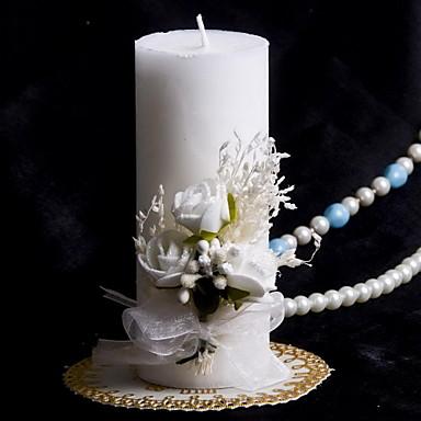 bunte Kerze mit Bowknot Korallen Hochzeit Trauung schön