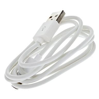 USB de sex masculin alb la micro USB cablu de sex masculin pentru Samsung și alte telefon inteligent (1m)