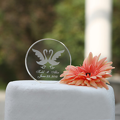 Cake Topper Garden Theme Classic Theme Hearts Classic Couple Crystal Wedding Bridal Shower with Gift Box