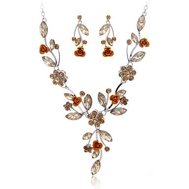 Jewelry Set Women's Anniversary / Wedding / Engagement / Birthday / Gift / Party Jewelry Sets Alloy Rhinestone