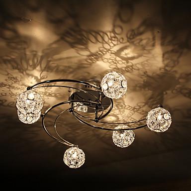 LWD 8-Licht Unterputz Raumbeleuchtung - Kristall, 110-120V / 220-240V Inklusive Glühbirne / G4 / 10-15㎡