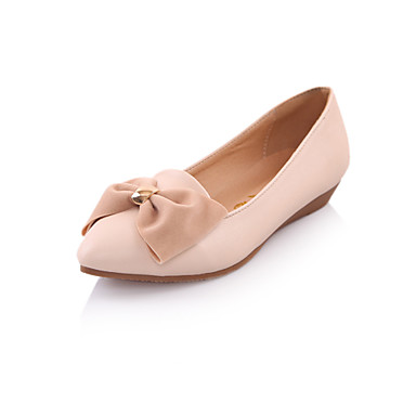 Top Quality PU Flat Heel Pointy Toe Sandals With Bowknot Party / Evening Shoes(More Colors)