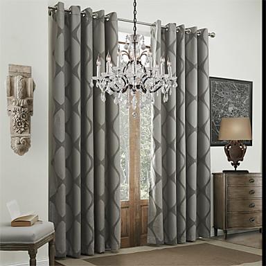 cortinas cortinas Comedor 100% Poliéster Poliéster Jacquard 576653 ...