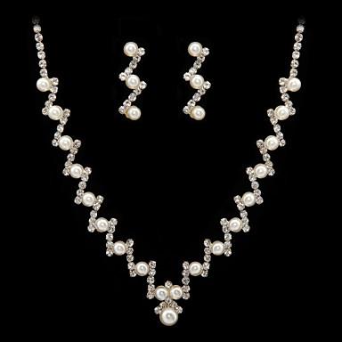 Set bijuterii Pentru femei Aniversare / Nuntă / Logodnă / Zi de Naștere / Cadou / Petrecere Set Bijuterii Aliaj ȘtrasColiere /
