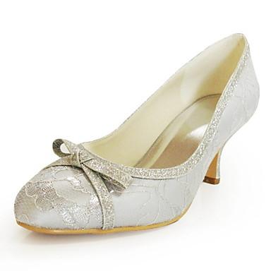 dentelles hauts talons peep-orteils avec des chaussures de mariée mariage bowknot plus de couleurs disponibles