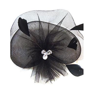 rhinestone peří net fascinators headpiece klasický ženský styl