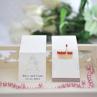 Kişiselleştirilmiş Kibrit Kutuları Malzeme / Sert Kart Kağıdı Düğün Süslemeleri Düğün / Parti Klasik Tema / Düğün Tüm Mevsimler