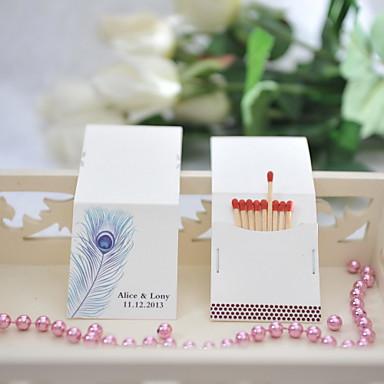 Kişiselleştirilmiş Kibrit Kutuları Malzeme / Sert Kart Kağıdı Düğün Süslemeleri Düğün / Parti Bahçe Teması / Düğün Tüm Mevsimler