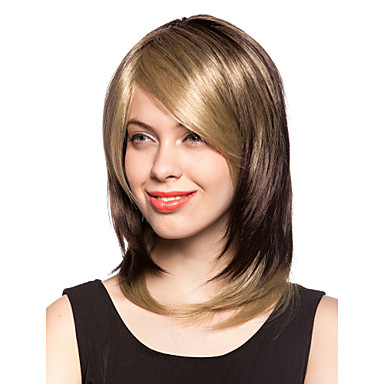 Women Synthetic Wig Straight Black Wig Costume Wig