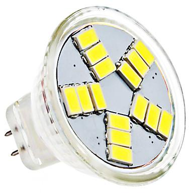 1.5W 6000lm GU4(MR11) LED-spotlys MR11 15 LED Perler SMD 5630 Naturlig hvid 12V