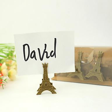 chrome držitelé karet 3 stálý styl dárková krabička svatební hostina