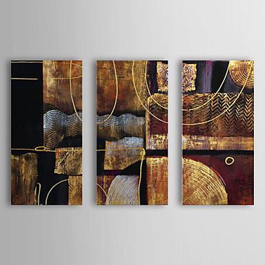 Maalattu Abstrakti Horizontal Kangas Hang-Painted öljymaalaus Kodinsisustus 3 paneeli