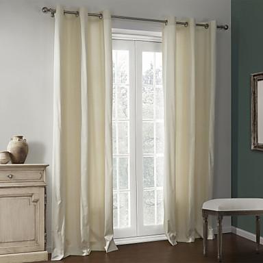 To paneler Vindue Behandling Moderne , Solid Stue Polyester Materiale Hjem Dekoration For Vindue