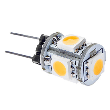 0.5W 50-100lm G4 LED Mais-Birnen T 5 LED-Perlen SMD 5050 Warmes Weiß 12V