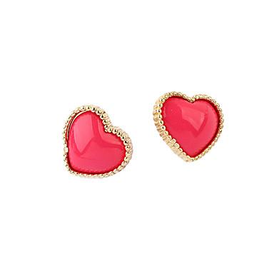 Žene Sitne naušnice Ljubav Srce Slatka Style Zircon Legura Srce Jewelry Crn Crvena Plava Dnevno Nakit odjeće
