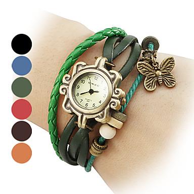 Dámské Módní hodinky Náramkové hodinky Křemenný Kapela Černá Modrá Červená Orange Hnědá Zelená Značka
