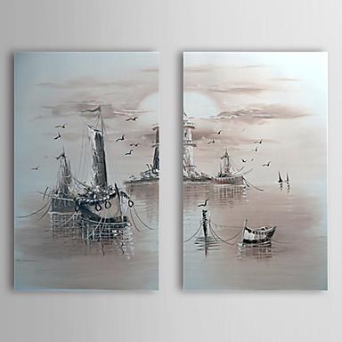 Pictat manual Peisaj Două Panouri Canava Hang-pictate pictură în ulei For Pagina de decorare