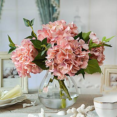 Flori artificiale 4.0 ramură Stil European Hydrangeas Față de masă flori