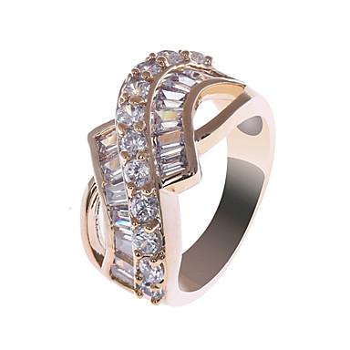 S&V Women's 18K Rose Gold Plating Zircon Ring BBR-00285_1
