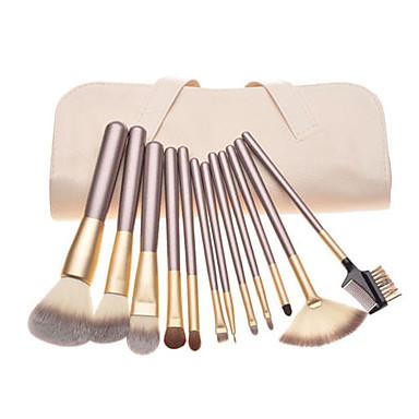 12 Stück Makeup Bürsten Professional Bürsten-Satz- Pony Bürste / Nylon Pinsel / Pferde Klassisch / Mittelgroße Pinsel / Kleine Pinsel