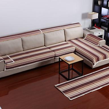 Cotton Coffee Stripes Sofa Cushion 70*180
