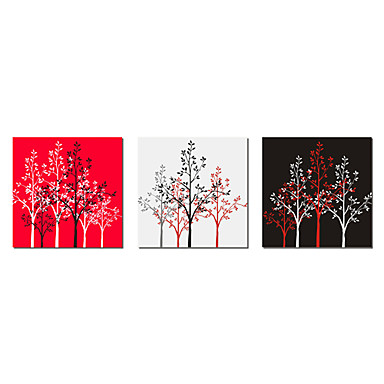Stretched Canvas Print Canvas Set Botanical Three Panels Horizontal Print Wall Decor Home Decoration