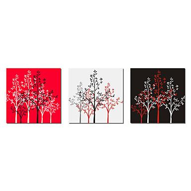 Aufgespannte Leinwandrucke Leinwand-Set Botanisch Drei Paneele Horizontal Druck Wand Dekoration Haus Dekoration